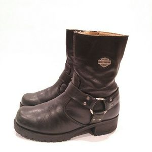 HARLEY DAVIDSON Harness O Ring Leather Boots